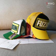 棒球帽x0女镂空网帽29国款机车货车帽绿色防晒遮阳太阳鸭舌帽