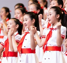 国庆儿xa合唱服演出pm红领巾中(小)学生红歌诗朗诵服装少先队员