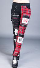 杀马特xb子非主流中kg款男式街舞休闲裤骷髅拉链DJ表演裤拉风