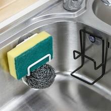厨房水xf海绵收纳沥qx袋洗碗抹布沥水篮置物架架层架
