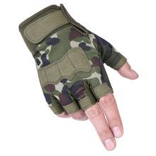 战术半xi手套男女式mu种兵迷彩短指户外运动骑行健身
