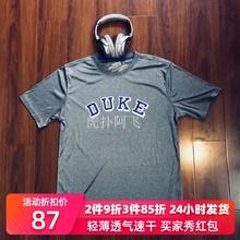 NCAA杜克北卡美款篮xi8训练热身an服短袖运动速干衣t恤男NEW