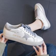 可卡依xi皮(小)白鞋百ng鞋女单鞋2021春式韩国做旧星星脏脏板鞋