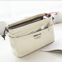 新内胆xi尼龙带抽绳ng内包多功能内衬包中袋便携化妆包包中包