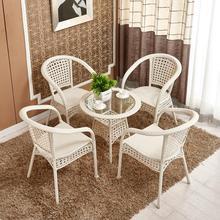 单个茶xi藤椅室内吃ng具藤制日式便携式休闲桌椅(小)孩时尚