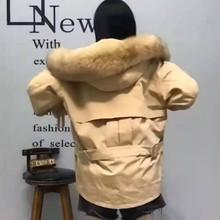 (10) 派克服女新款冬兔毛皮草��xi14貉子毛ty款大衣可拆卸