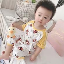 (小)炸毛xi020夏季ce儿连体衣爬服婴幼儿服饰宝宝连体衣短袖哈衣