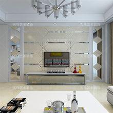 电视镜影视自菱形餐厅xi7款玻璃边du粘拼镜面客厅造型艺术