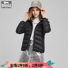 龙狮戴xi专柜正品轻lu连帽保暖外套简约238421026