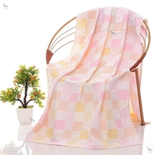 宝宝毛xj被幼婴儿浴bb薄式儿园婴儿夏天盖毯纱布浴巾薄式宝宝