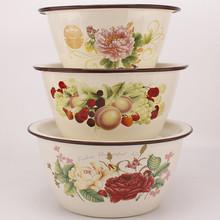 18-xj6搪瓷老式ii盆带盖碗绞肉馅和面盆带盖熬药猪油盆