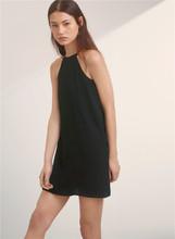 DRExjS STOnf 新式时尚黑色粉红色两色吊带露肩中长连衣裙