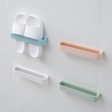 浴室拖xk架壁挂式免zx生间吸壁式置物架收纳神器厕所放鞋架子