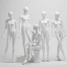 新式模xl道具女全身lt白蘑菇头女模特服装店橱窗展示的台衣架