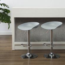 现代简xm家用创意个kj北欧塑料高脚凳酒吧椅手机店凳子
