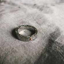 日本潮xm百搭原宿风rp手工镶嵌金珠太阳图腾情侣男女指环