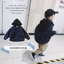 邦仔家xm童装冬季夹yw宝宝男宝宝加厚保暖外套潮