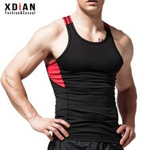 运动背xm男跑步健身yw气弹力紧身修身型无袖跨栏训练健美夏季