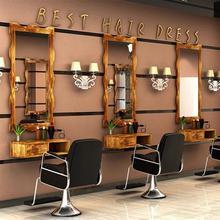 理发店xn抽屉烫染全hg装饰椅子套餐化妆方形式挂镜