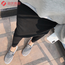 孕妇裤xn秋季外穿假kd裤2019韩款时尚秋冬加厚加绒孕妇打底裤