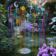 铁线莲xp架爬藤架铁fr攀爬庭院装饰户外彩色仙子花架花盆支架