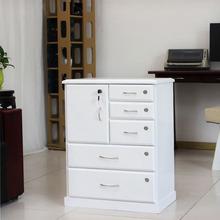 文件柜xq质带锁床头p8办公矮柜家用抽屉柜子资料柜储物柜斗柜