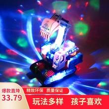 宝宝电xs万向灯光音ys变形挖掘机仿真工程车玩具男孩宝宝3-6