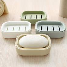 创意浴xt大号双层沥em收纳盒塑料带盖洗衣皂置物架皂拖