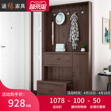 北欧薄xt挂衣柜鞋柜on用门口玄关柜门厅柜和隔断柜
