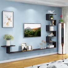 现代简xu客厅(小)户型ba壁挂式迷你简易柜挂墙卧室装饰层板搁板