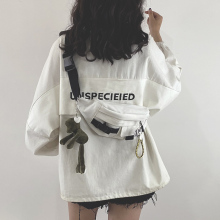 202xu新式包包网ais日系原宿工装胸包女韩款学生帆布斜挎腰包潮