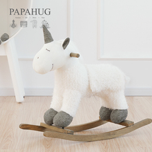 PAPxuHUG|独ie童木马摇马宝宝实木摇摇椅生日礼物高档玩具