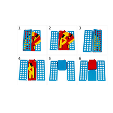 叠快速xu衫折宝宝衣ng纳板衣服式懒的衣服衣折叠神器叠折叠器