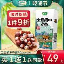 买1送xv 十月稻田jt货红皮鸡头米欠实干货煲汤煮粥粗400g