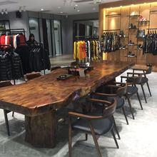 原木茶xw椅组合实木tg几新中式泡茶台简约现代客厅1米8茶桌