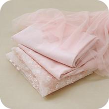 裸粉色新式xx2物花卉配htDIY服装裙子面料蕾丝布料材料辅料