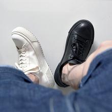 昱谷日xy工装板鞋山hf松软植鞣牛皮鞋 有范青年圆头复古休闲鞋