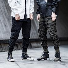 ENSxyADOWEcq者国潮五代束脚裤男潮牌宽松休闲长裤迷彩工装裤子