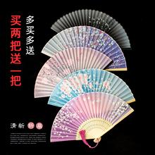 扇子折xz中国风古典tw女夏季学生宝宝(小)巧日用扇古风古装道具
