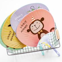 韩款创xz卡通(小)扇子tw季学生宝宝可爱迷你随身便携塑料手摇扇