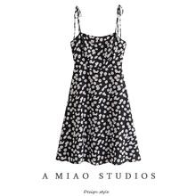 澳洲(小)xz夏季新式女gr雏菊印花吊带裙旅游度假风连衣裙女裙