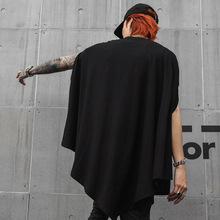 正品潮xz夜店暗黑系hh发型师衣服韩款非主流青年个性斗篷无袖