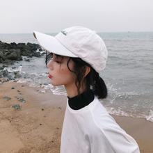韩款刺绣xz1母(小)清新uq撞色情侣遮阳帽骑车棒球帽