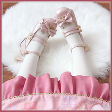 甜兔座y1货(麋鹿)1oolita单鞋低跟平底圆头蝴蝶结软底女中低