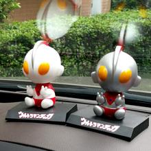 迪迦奥y3曼汽车摆件3g意装饰品咸蛋超的车载摇头车饰卡通盲盒