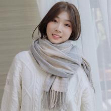 围巾女冬季韩款百搭加厚保暖ya10色两用ki女仿羊绒围脖包邮