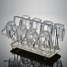 家用刻花ya1璃水杯套ki热泡茶杯喝水杯子加厚果汁杯创意杯具