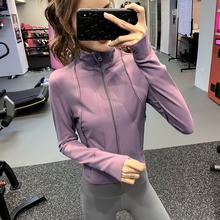 健身女ya帅气运动外ki跑步训练上衣显瘦网红瑜伽服长袖Bf风新