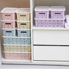 镂空收纳盒抽屉书桌办公ya8收纳杂物ao内衣塑料化妆品储物盒