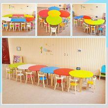 幼儿园ya椅套装实木o8子椅子宝宝游戏活动桌木质画画桌(小)餐桌